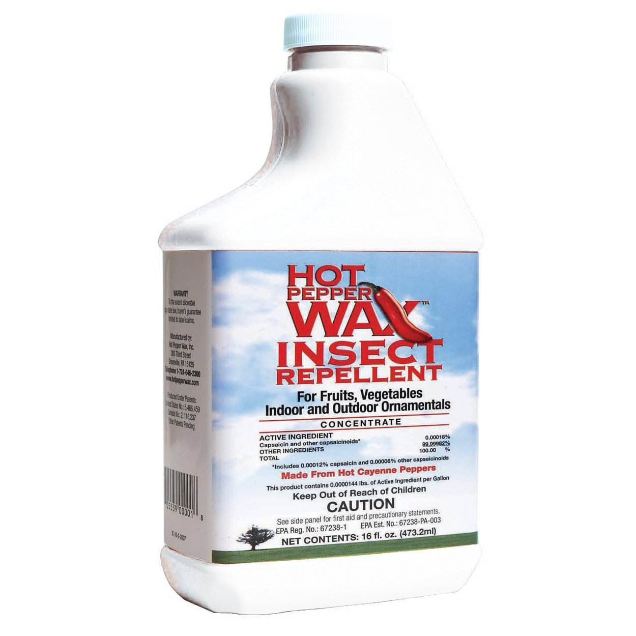 Harvest Hot Pepper Wax Insect Repellent for Gardening Fruit, Vegetable Plants (6) by Hot Pepper Wax