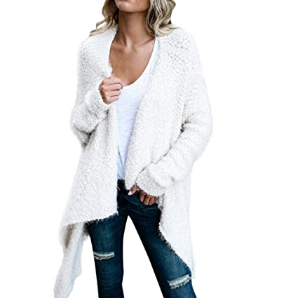 bee9d5112bb7de Winter Coat Ladies Coat, Women Fashion Winter Irregular Long Sleeved Double-Sided  Cardigan Solid