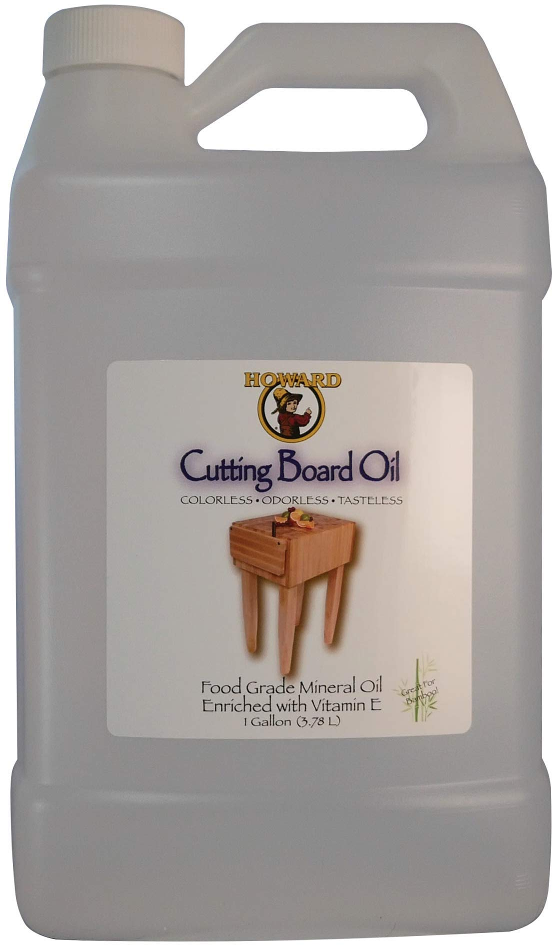 Howard Products BBB128 Cutting Board Oil, 1 Gallon, Clear by Howard Products