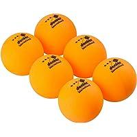Donier Pelotas de Ping Pong de 3 Estrellas | Set de 6 Pelotas de Tenis de Mesa de Competición con Tamaño Reglamentario de 40 mm para Partidos de la ITTF | para Interior y Exterior | Naranja, Blanco