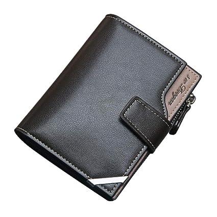 mejor sitio web c59a5 7a53d COOLFUN Carteras para Hombres PU Cuero de Piel/Billetera Tarjetero para  Caballero Tarjetero Minimalista para Hombre Multiusos La Moda Men's Wallet