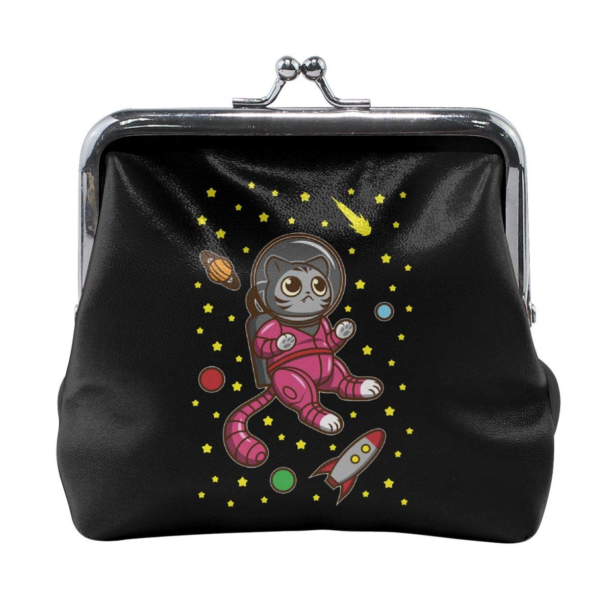 Cats In Space Cute Buckle Coin Purses Buckle Buckle Change Purse Wallets