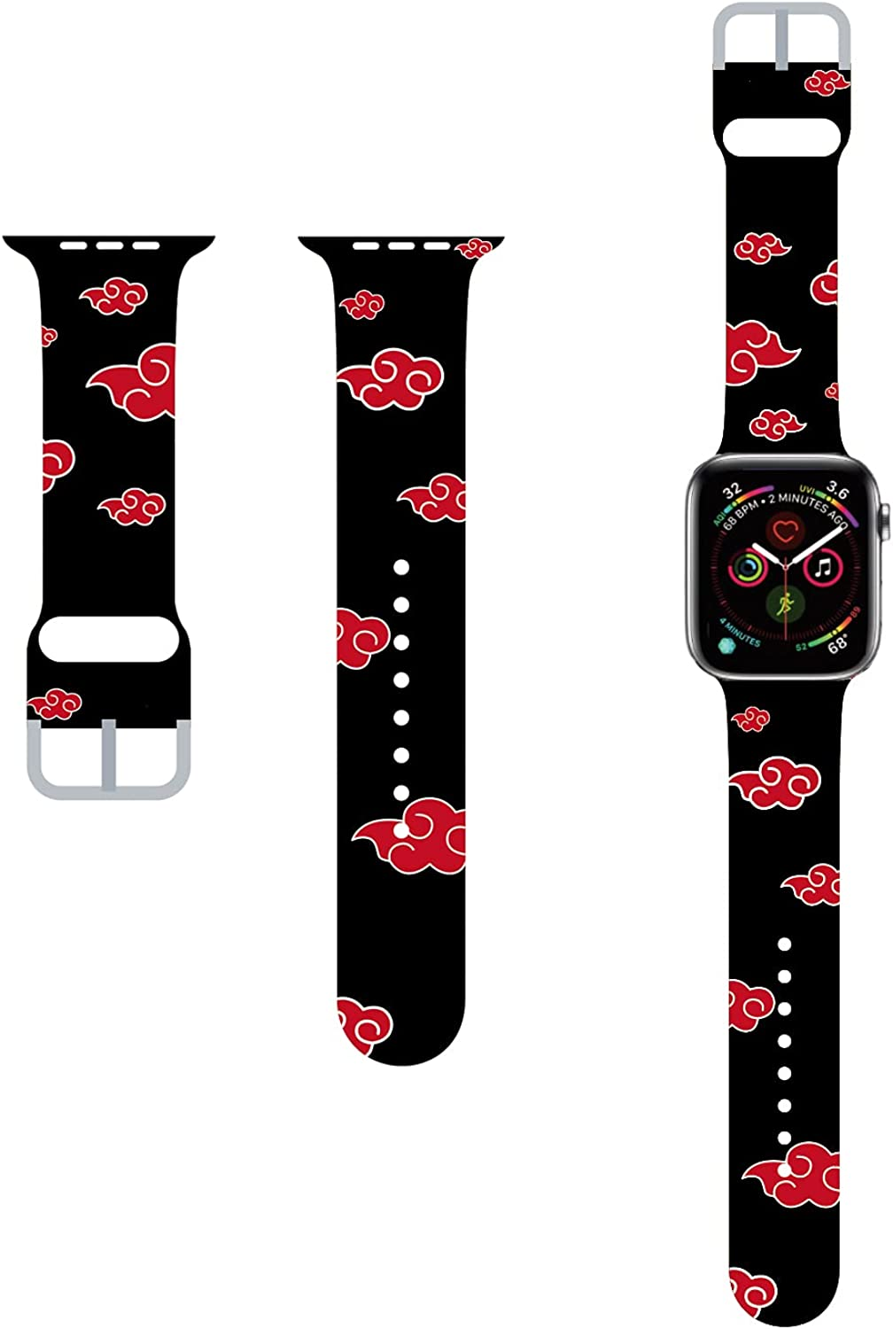PlusYard Apple Watch Band Compatible With 38mm/40mm/42mm/44mm Anime Fan Memorabilia Gifts For Men/youngboy/kids Birthday Christmas Compatible iWatch Series 6 & SE 5,4,3,2,1