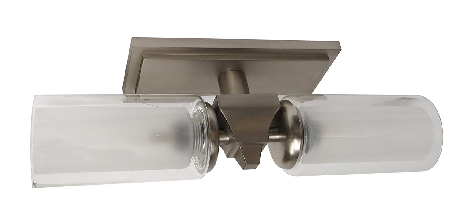 ITC 3443F-UH34E1000-DB Diana Series Two Bulb Vanity Light with Candle Glass