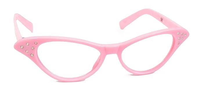 b8b4fec91769 Hip Hop 50s Shop Womens Cat Eye Rhinestone Glasses