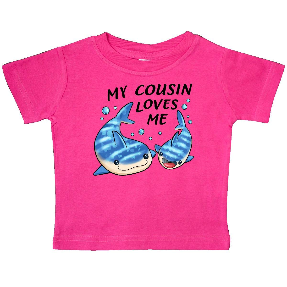 inktastic My Cousin Loves Me Whale Shark Baby T-Shirt