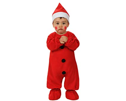 Atosa-12785 Atosa-12785-Disfraz De Papá Noel niño bebé-Talla ...