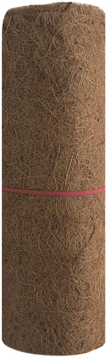 Toyfun Coco Coir Liner Roll Natural Coconut Liner Coco Fiber Replacement Liners for Hanging Basket Wall Planter Flowerpot Coir Pad Hanging Basket Pad Flower Pot Insulation Mat 24/Ã/—33in