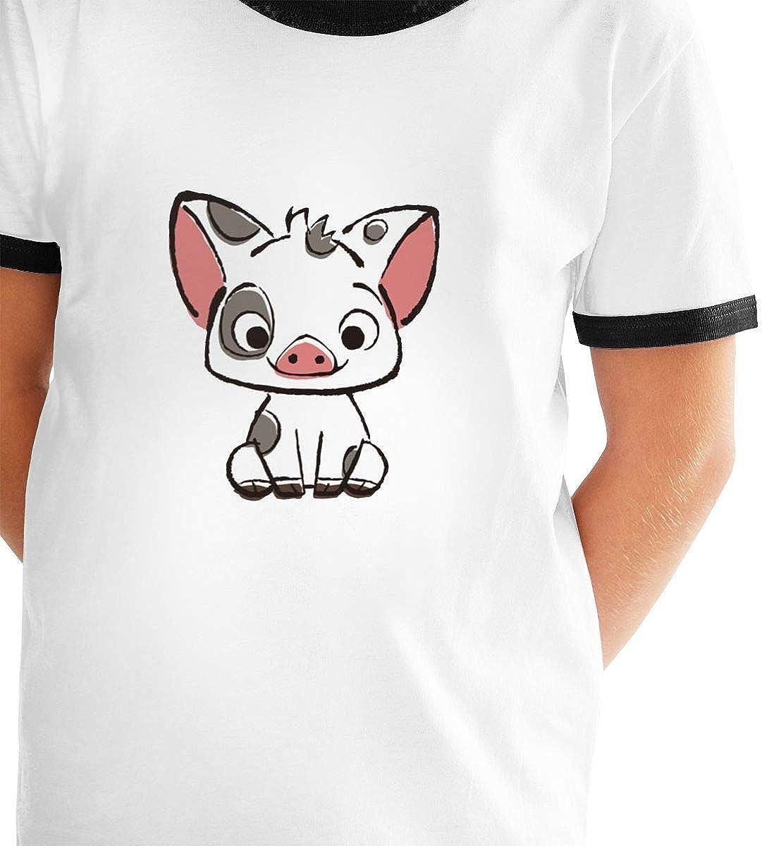 Kids Or Little Boys and Girls Richard Moana Pua The Pot Bellied Pig Unisex Childrens Short Sleeve T-Shirt