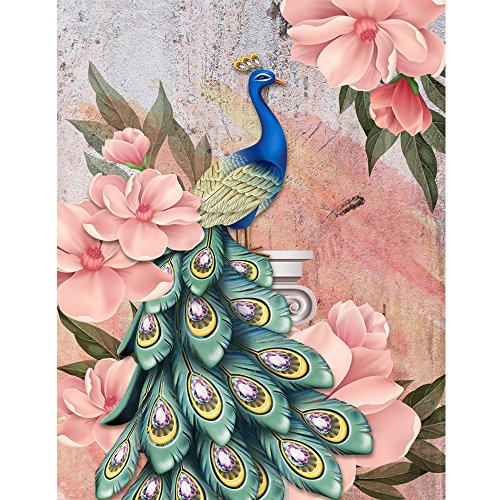 DIY 5D Diamond Painting by Numbers Kits for Adults, Seaintheson 30x40CM Full Diamond Large Lucky Bird Peacock Animal Embroidery Rhinestone Stitch Home Wall ()