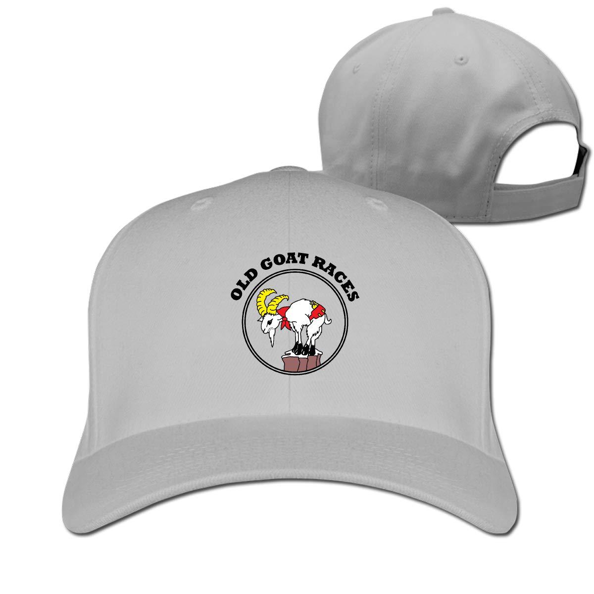 Goat Logo Fashion Adjustable Cotton Baseball Caps Trucker Driver Hat Outdoor Cap Gray