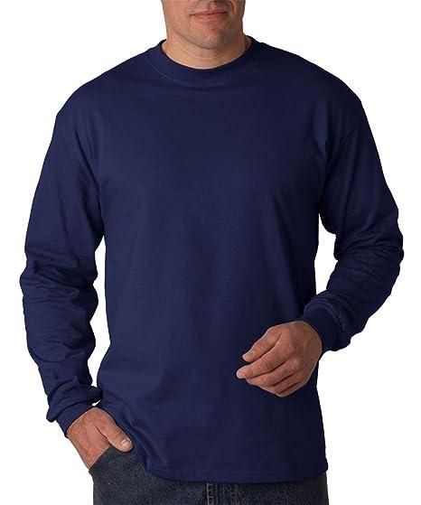 0fd30ed8af37 Hanes Men's Long Sleeve Crewneck Beefy T-Shirt | Amazon.com