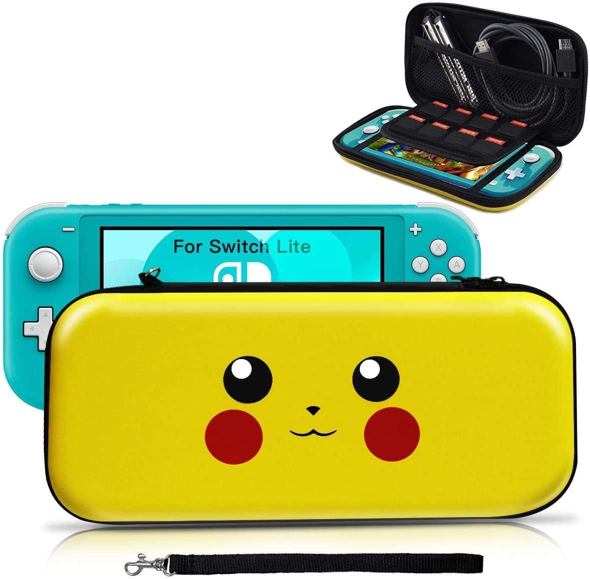 Funda para Switch Lite, [Diseño para Pikachu/Pokemon][Estuche Protector Portátil ] Funda de Viaje Transportar para Switch Lite Accesorios- Amarillo: Amazon.es: Electrónica