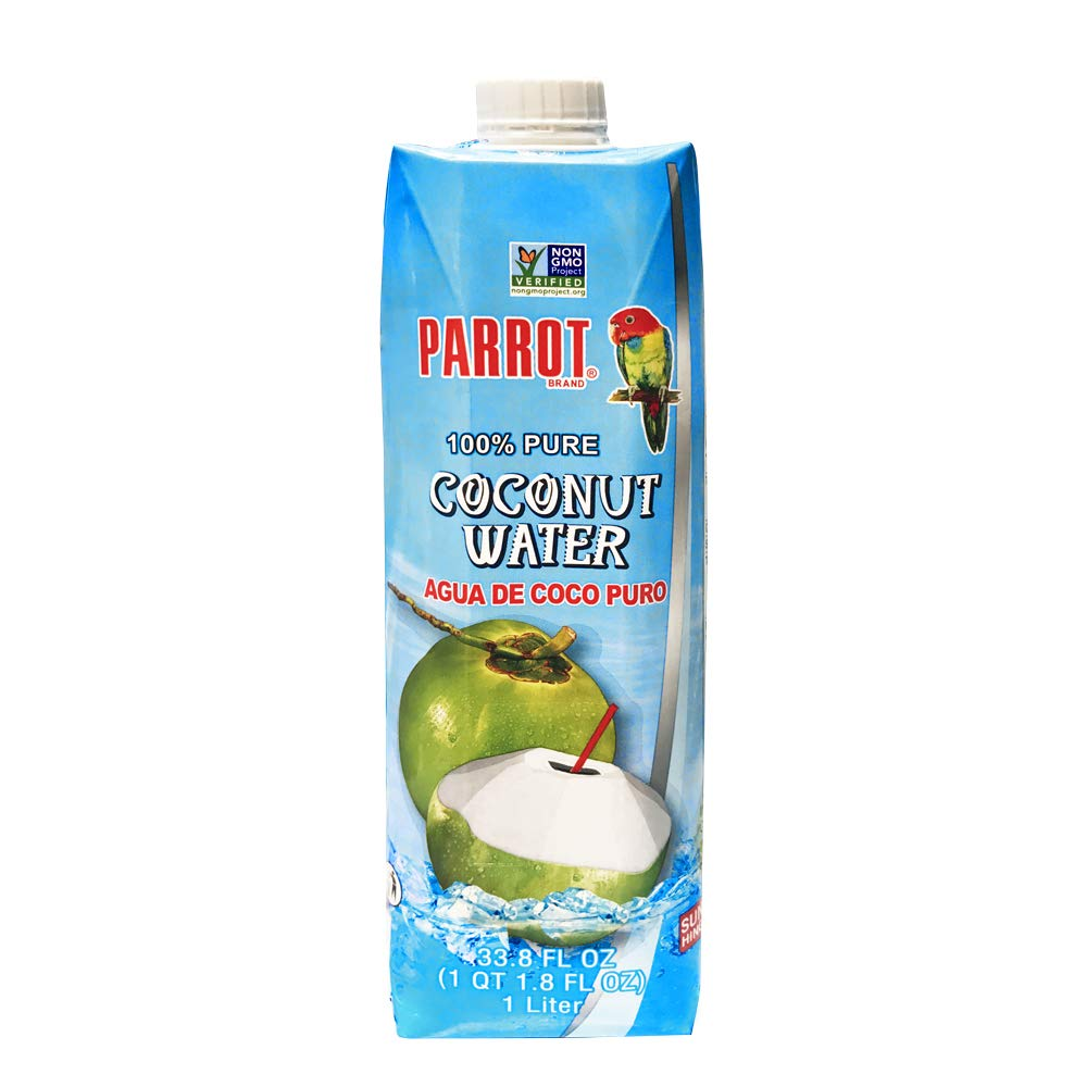 Parrot 100% Pure coconut water 33.8 fl oz (pack of 12)