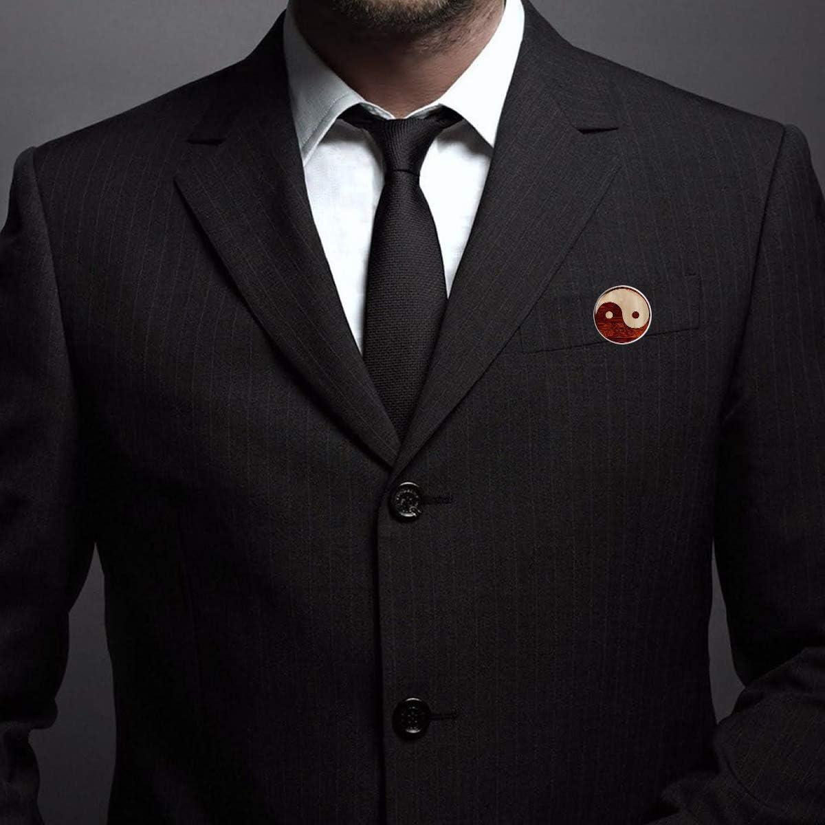 Pinback Buttons Badges Pins Yin Yang Brown Lapel Pin Brooch Clip Trendy Accessory Jacket T-Shirt Bag Hat Shoe