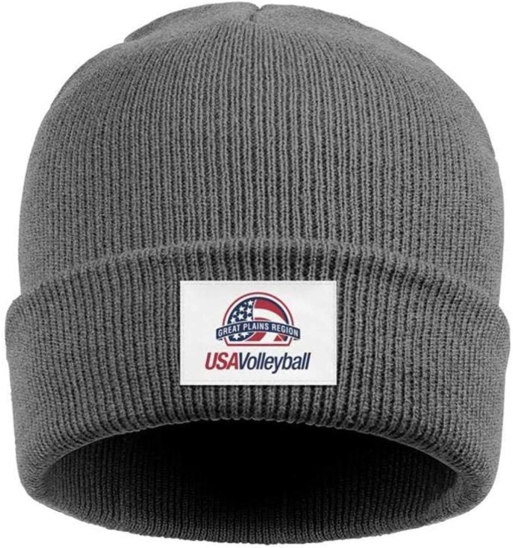 Ingemarfcgfg USA-Volleyball Men Winter Outdoor Knit Cap Keep Warm Daily Black