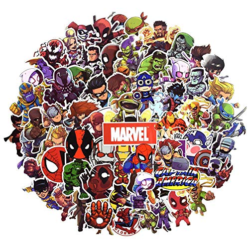 Laptop Sticker Pack 100 Pcs,Sanmatic Superhero Sticker Unique Cool Stickers Waterbottle Notebook Guitar Skateboard Travel Kid Adults Stickers (Gaming Skateboard)