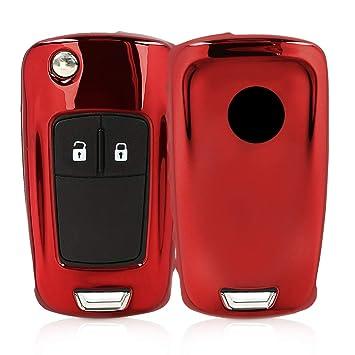 kwmobile Funda para Llave Plegable de 2-3 Botones para Coche Opel Vauxhall - Carcasa [Suave] de [TPU] para Llaves - Cover de Mando y Control de Auto ...