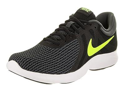 NIKE Men s Revolution 4 Black/Volt/Anthracite/White Running Shoe 9.5 Men US