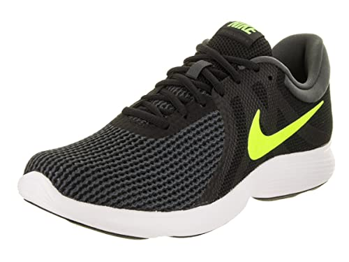 41a752bbd3a Nike Men s Revolution 4 Black Volt Anthracite White Running Shoe 9 Men US   Buy Online at Low Prices in India - Amazon.in