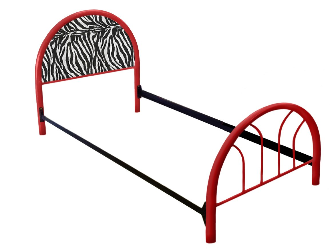 New Twin Size Custom Zebra Animal Print Themed Bed Set! Includes Head Board, Foot Board and Mattress Rails! by The Furniture Cove (Image #1)