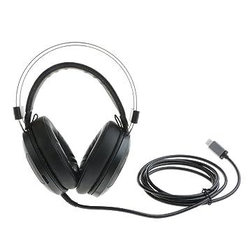 Dolity Auriculares Inalámbricos para juegos Adjustable con Diadema con Micrófono para Telelfonos Negro: Amazon.es: Electrónica