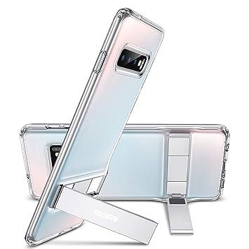 ESR - Carcasa con función Atril para Samsung S10 (Soporte Vertical y Horizontal), TPU Flexible, Parte Trasera Blanda para Samsung S10, Transparente