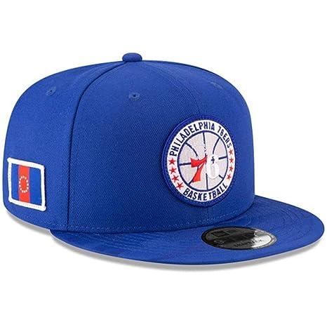 cd6c9903030 Amazon.com   New Era Philadelphia 76ers 2018 NBA Tip-Off Series 9FIFTY  Snapback Adjustable Hat - Blue   Sports   Outdoors