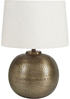 Laura ashley lighting sld338 lucille 18 inch lamp shade butter signature design by ashley l207054 darva table lamp 165 x 165 x 245 aloadofball Images
