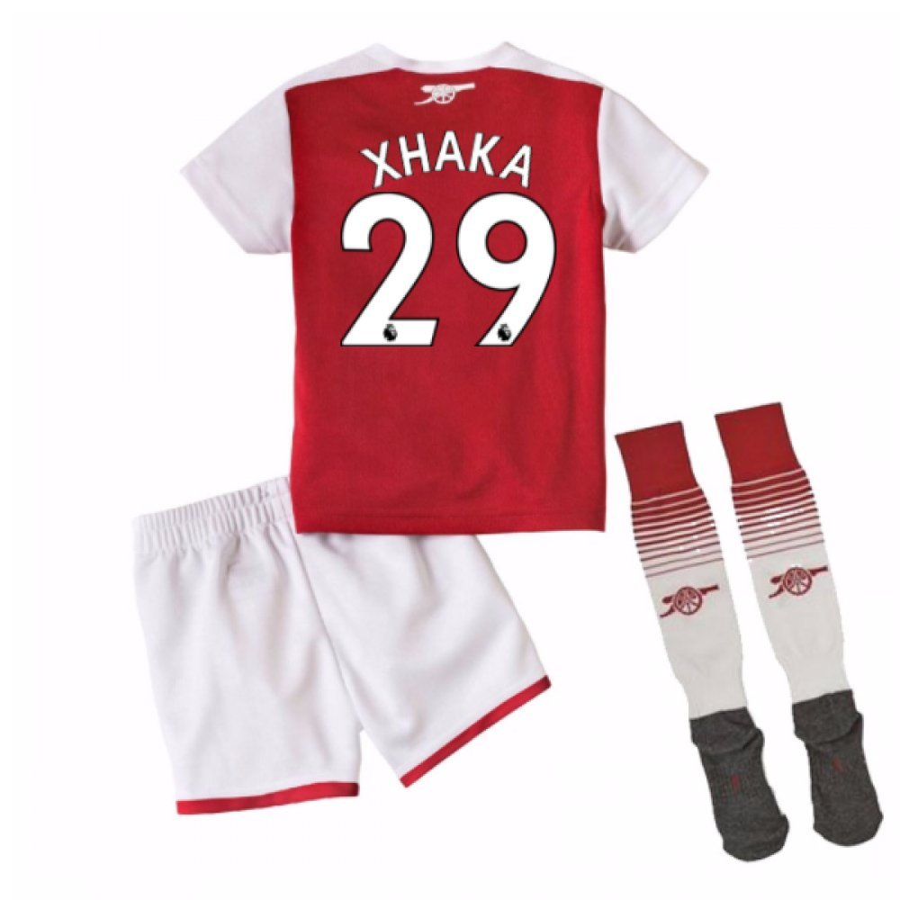 2017-18 Arsenal Home Mini Kit (Xhaka 29) B077PKBTNL 1-2 Years|Red Red 1-2 Years
