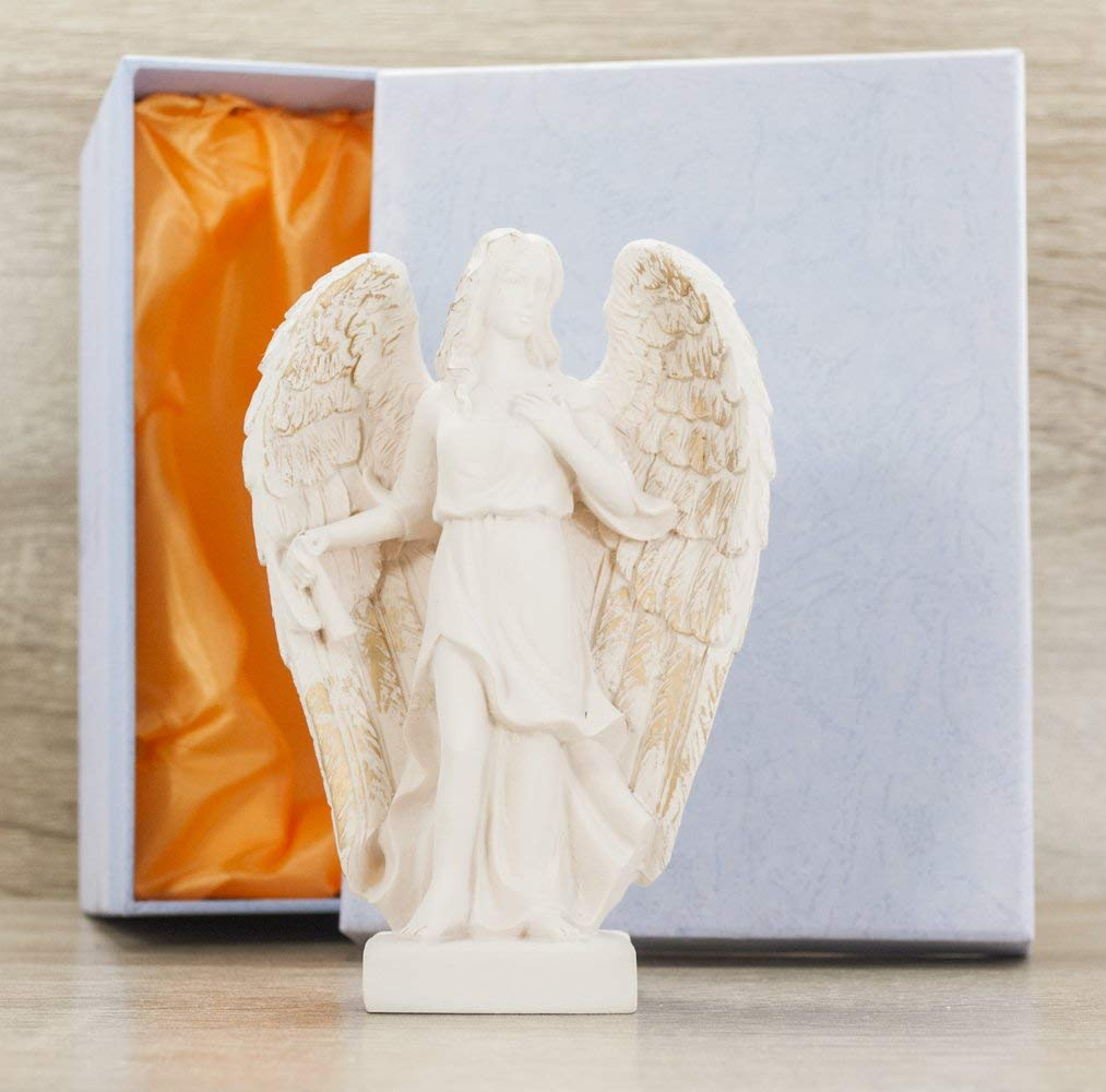 Gaia's Treasures Archangel Gabriel Statue Angel Figurine Sculpture Humanity Birth Dreams 5 inches Gift Boxed