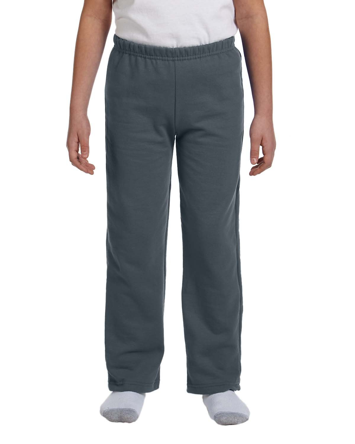 Gildan Boys 7.75 Oz. Heavy Blend 50/50 Sweatpants (G184B) -Dark Heath -S-12PK