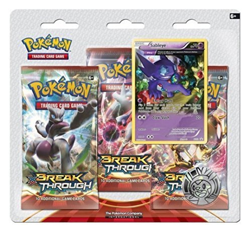 Pokemon TCG: XY - BREAKthrough Three-Booster Blister Pack- Sableye