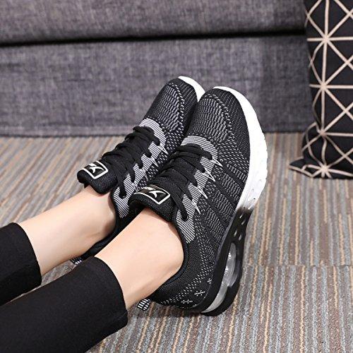 JARLIF Women's Athletic Running Sneakers Air Fitness Sport Workout Gym Tennis Walking Shoes Black 8 B(M) US by JARLIF (Image #5)