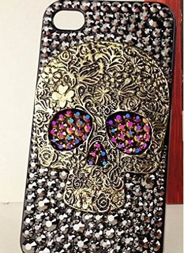 size 40 c42a2 a1d88 Skull Phone Case iphone 6 Bling Rhinestone iPhone 7 Case Crystal Phone  Covers For iphone 6s 6 plus Calx Gray