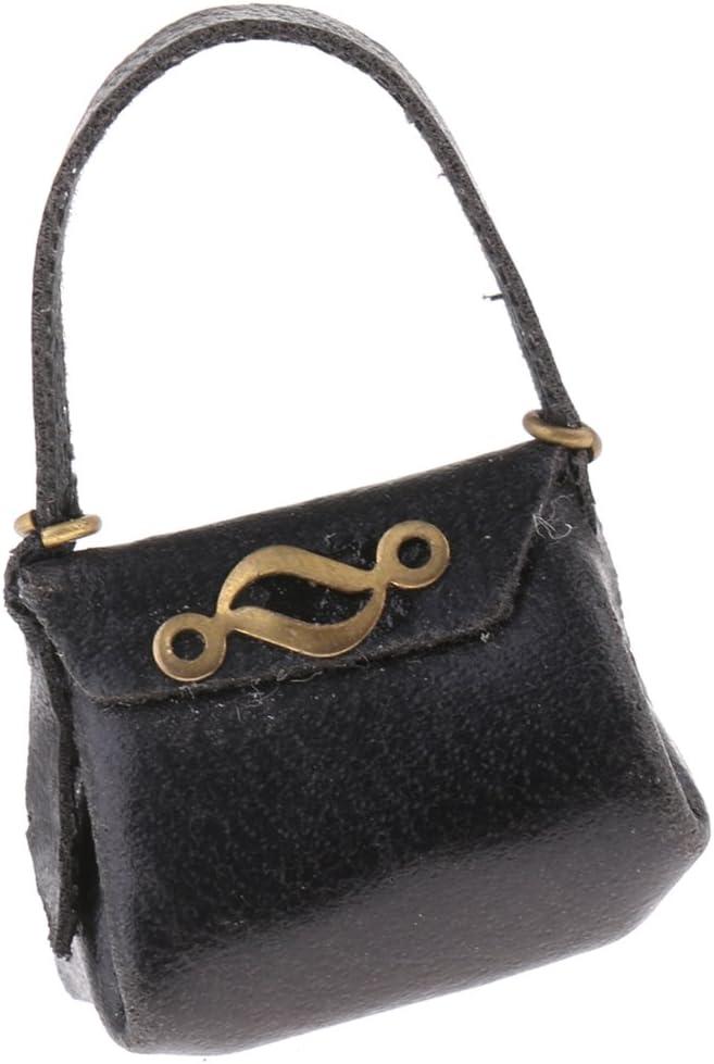 Dollhouse Miniature Handcrafted Lady/'s Purse Handbag Genuine Leather 1:12