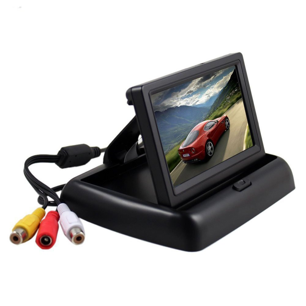 Amazon.com: KKmoon 4.3 inch Foldable TFT Color LCD Car Reverse Rearview  Security Monitor for Camera DVD VCR: Car Electronics