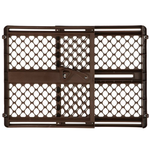 "Price comparison product image Supergate Ergo Pressure or Hardware Mount Plastic Gate,  Espresso,  Fits Spaces between 26"" to 42"" Wide and 26""high"