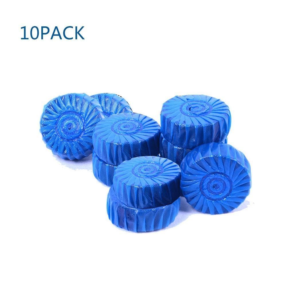 Umiwe Toilet Bowl Cleaner, 10 Pcs Toilet Tank Cleaner Tablets Antibacterial Blue Automatic Toilet Bowl Bathroom Cleaner Tablets - Lasts up to 150 Days