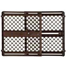 "Ergo Pressure or Hardware Mount Plastic Gate, Espresso, Fits Spaces between 26"" to 42"" Wide and 26""high"