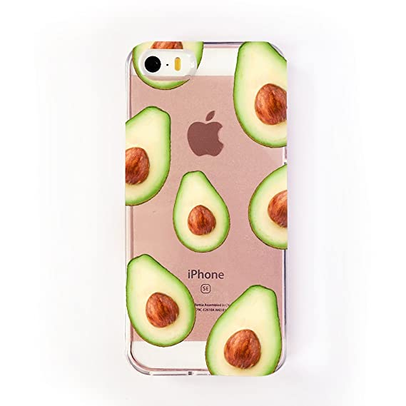 sports shoes 39fa5 ffbc5 Clear Avocado iPhone 5/5S/SE Case by Catching Rainbows stylish case that  not only protects your phone, but also makes it look great!