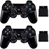 PS2 Game Wireless Controller,GamePal for Sony Playstation 2 (Black 2 Pack) (Multi) (Color: Black)