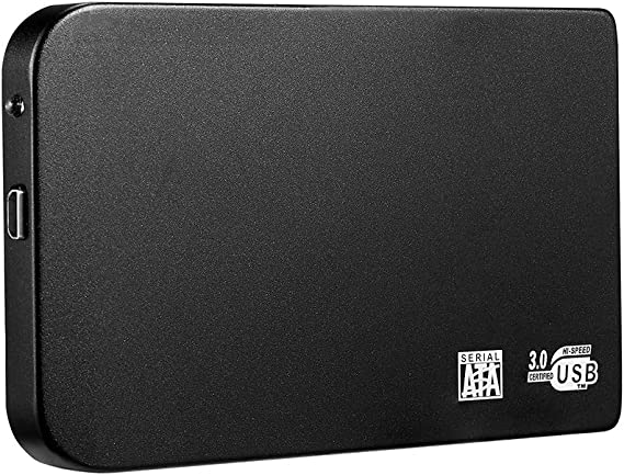 モバイルドライブ2TB外付けハードドライブポータブルHDD、USB 3.0デスクトップ外付けハードドライブ、MacおよびPCデスクトップ用,黒,500GB