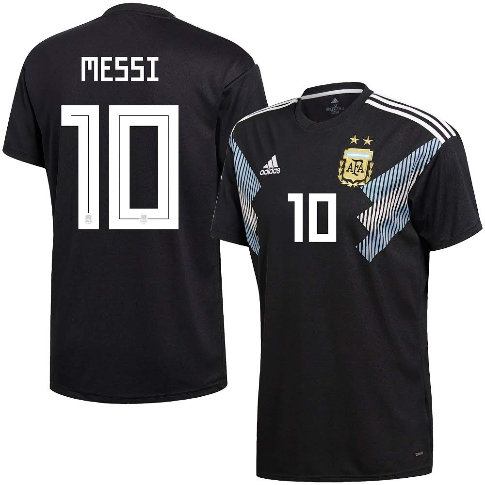 c950e67fb Amazon.com   adidas Argentina Away Messi 10 Jersey 2018 2019 (Official  Printing)   Sports   Outdoors