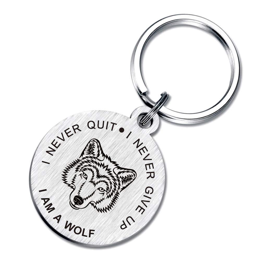 Amazon.com: Llavero de lobo con texto en inglés «I Never ...