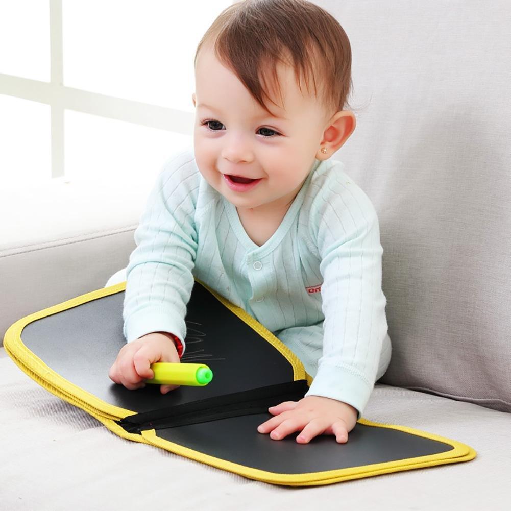 Planche à dessin portative pour enfants Écrire et apprendre, Livre de dessin à la craie, livre coloré en tissu pour enfants, jouets éducatifs pour bébé Livre de dessin à la craie flower205