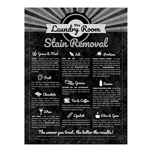 Stain Removal Guide Metal Sign for Home Decorating Laundry Room, Sewing Room, Laundromat