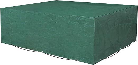 SONGMICS Funda Protectora para Muebles de jardín, 200 x 160 x 70 cm, para Mesas y Sillas de Patio, Cubierta Protectora Exterior, Impermeable, Rectangular, Verde GFC91L: Amazon.es: Jardín