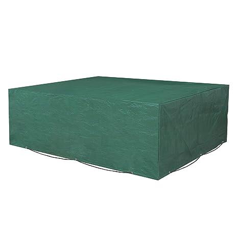SONGMICS Funda Protectora para Muebles de jardín, 200 x 160 x 70 cm, para Mesas y Sillas de Patio, Cubierta Protectora Exterior, Impermeable, ...