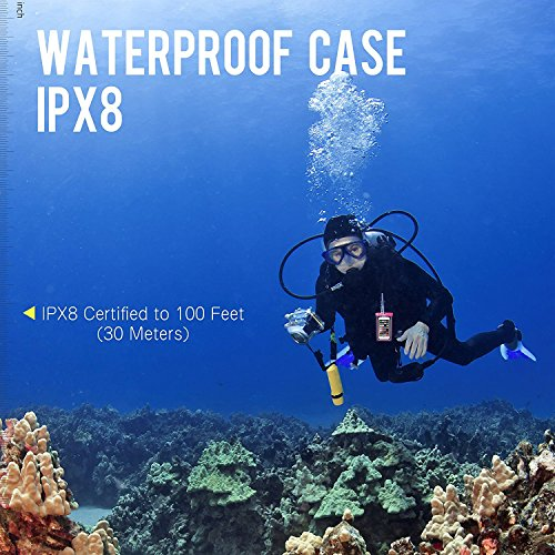 EOTW 2 Pack IPX8 Universal Waterproof Case for Smartphone Device to 6'' Fit iPhone X/8/8plus 7plus/6plus Samsung Galaxy s8/s8plus/s7 Google Pixel HTC10,for Water Parks/Beach/Cruise/Pools snorkeling by EOTW (Image #8)